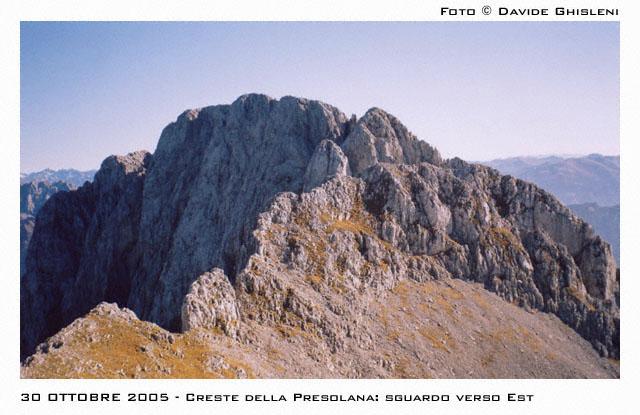 Uno sguardo verso Est: la Presolana del Prato e la Presolana Centrale