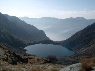 Il Lago d'Eugio dall'alto, salendo al Lago Losere