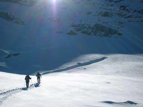 il ghiacciaio sotto la becca con Fantomas e Muyo