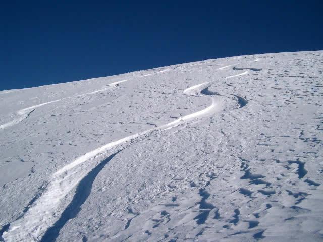 Prime curve sotto la cima nella farina libidinosa