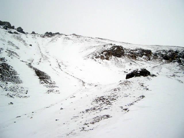 La cima del Cassin, dopo la razzia del vento...