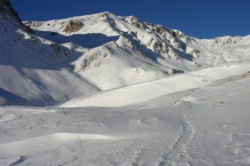 il bel Vallone Sibolet che si deve risalire per raggiungere il Colle Intersile (11-12-2005)