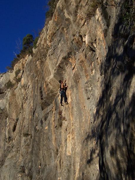 arrampicata al settore Gumbi