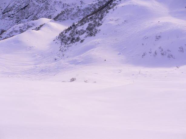 il breve tratto di neve farinosa