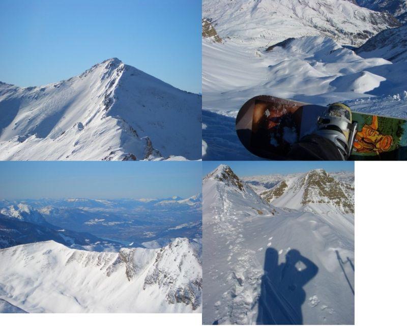 Collage:La cima---Mi butto?---Invaso di Serre-Poncon---In cresta