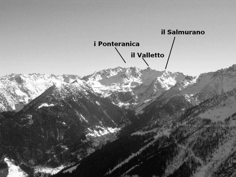 L'alta Val Gerola vista dal Monte Colombana