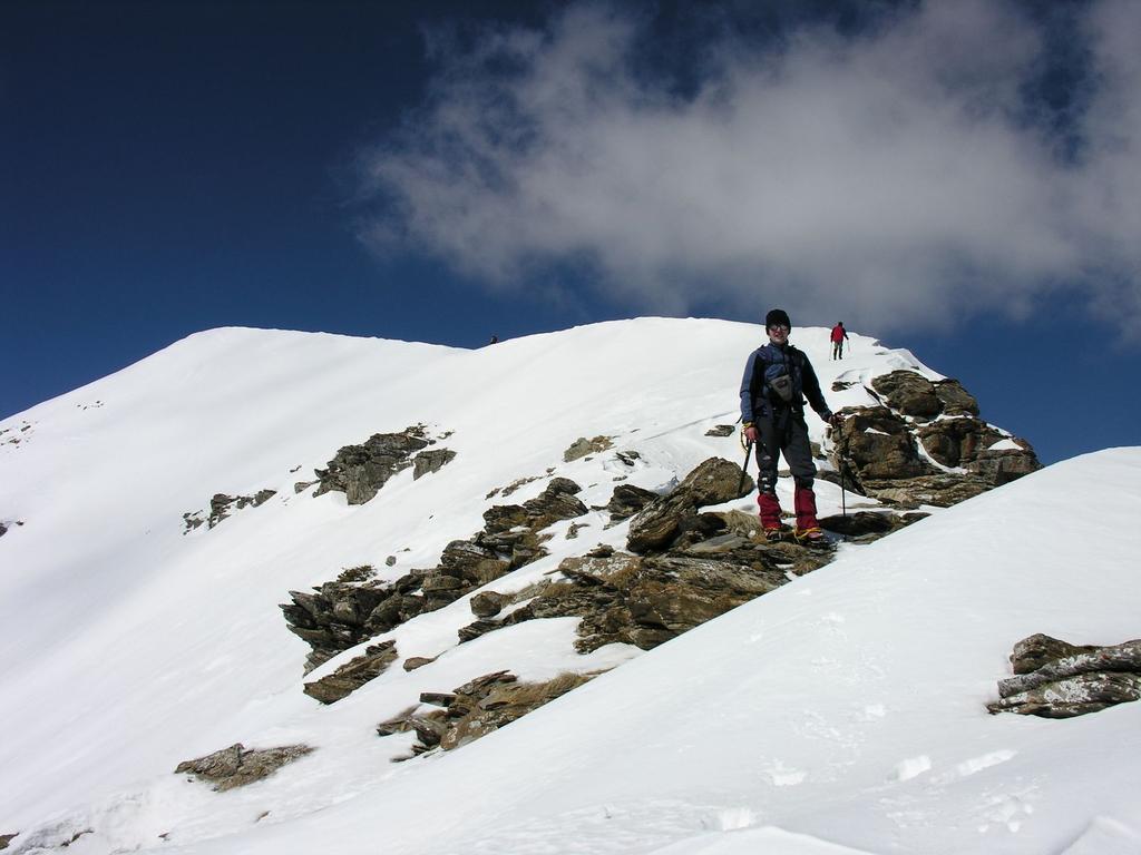 Stelvio sulla cresta sommitale del Bertrand (12-3-2006)