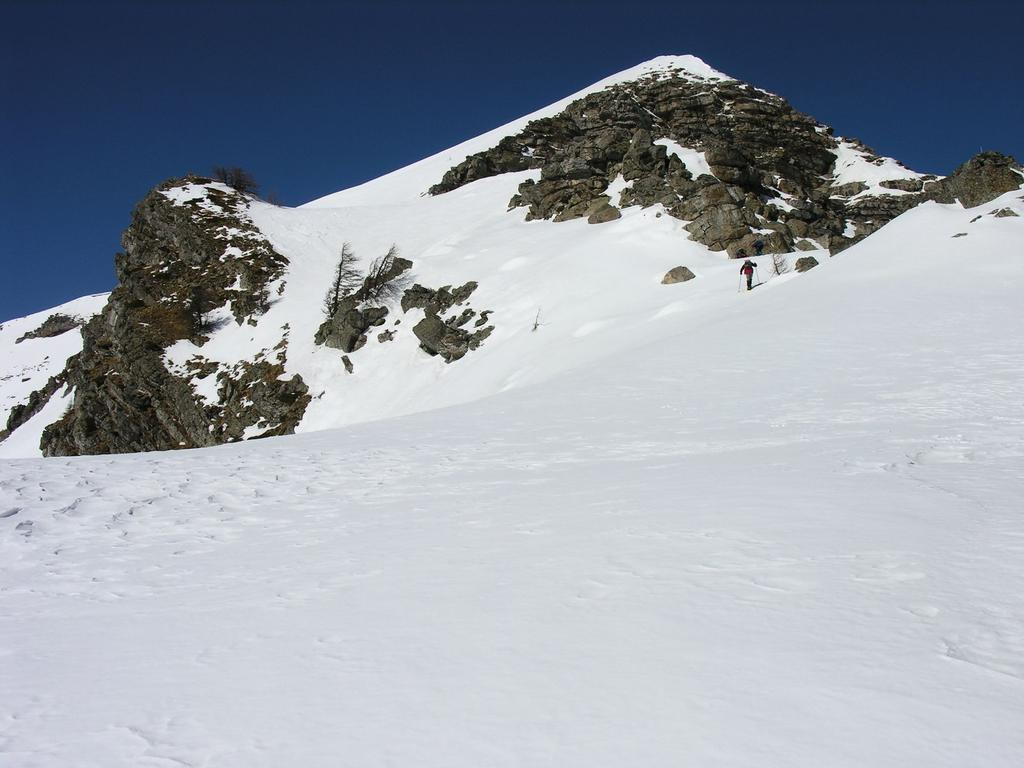 salendo lungo la bella cresta nevosa al Bertrand (12-3-2006)