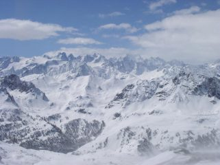 Panorama verso gli Ecrins
