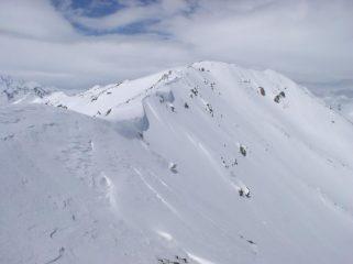 cornici sulla cresta verso il  Pic du Lac
