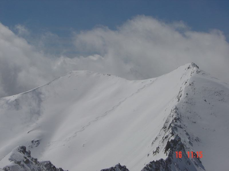 Discesa dalla cima vista dal Parpaillon
