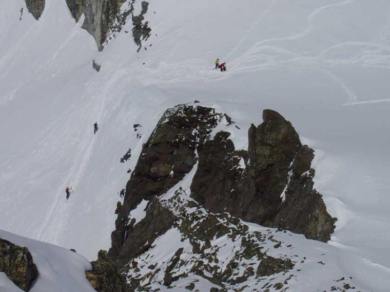 Arrivo dalla Tuoi Hutte al colle delle Jam Spitze.