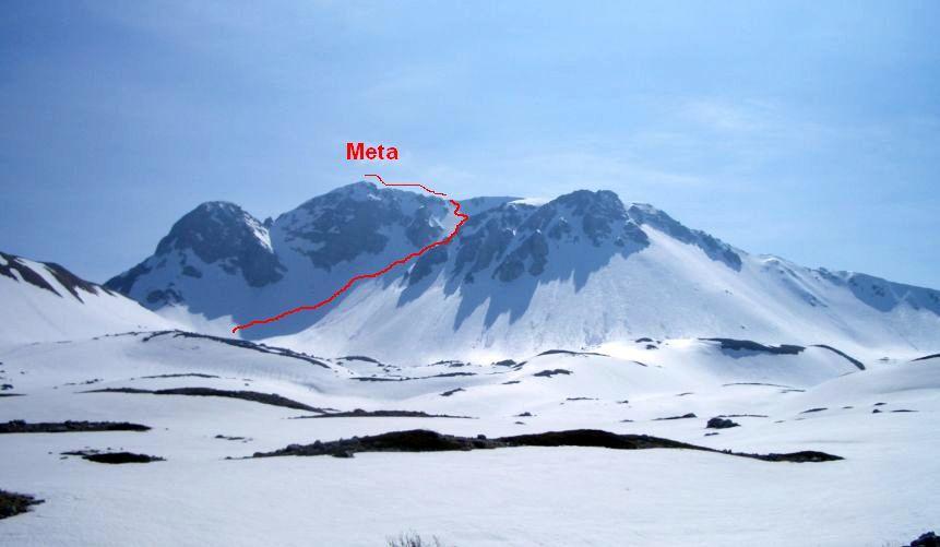 Meta (Monte)per il canalone centrale 2009-12-20