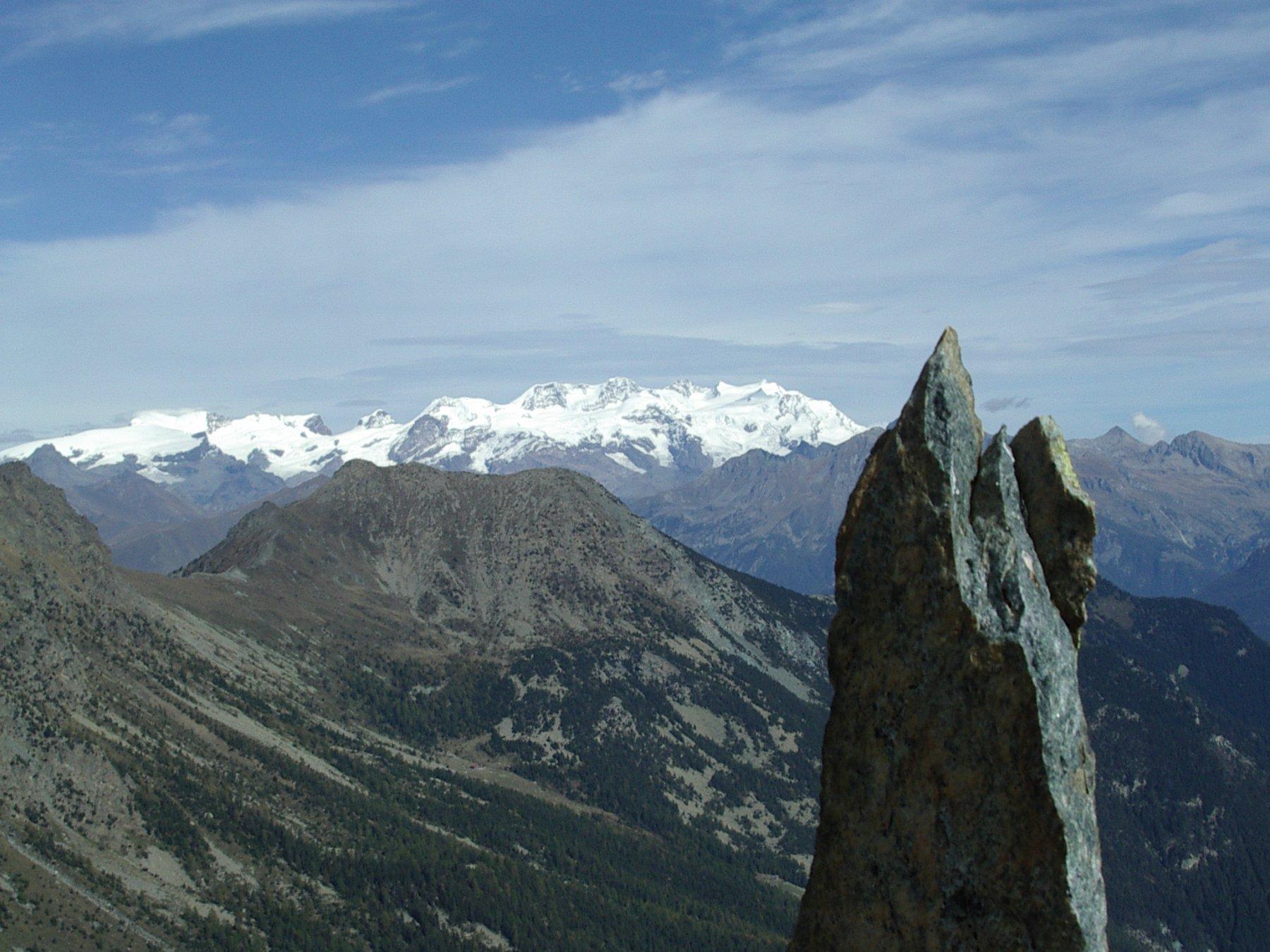 il Monte Rosa dalla vetta