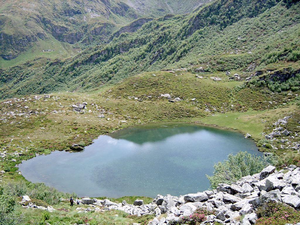 Il lago di Prafiorito visto dall'alto