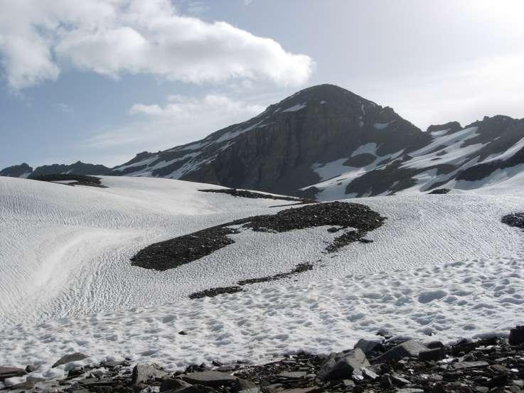 L'Ouille Noire dal ghiacciaio