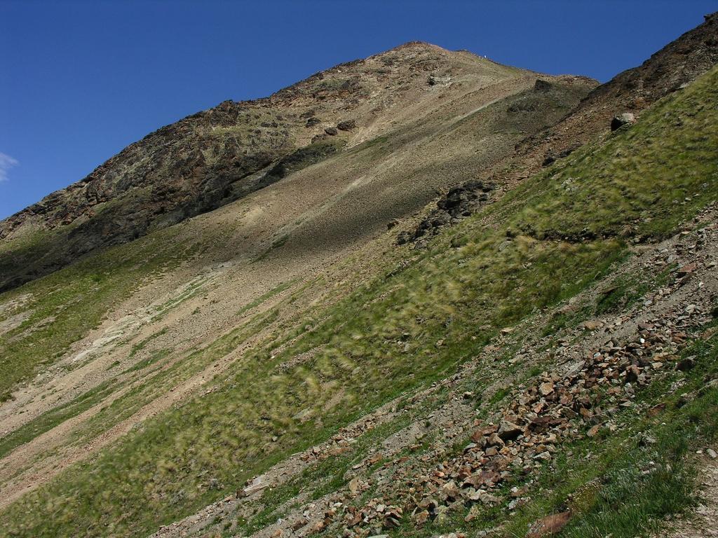 il versante Ovest della Becca di Nona dal Vallone di Comboè (23-7-2006)