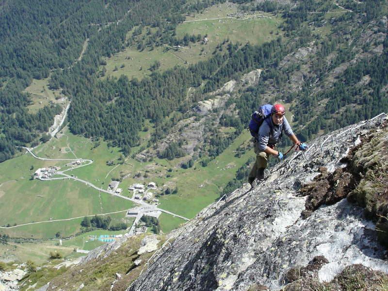 Un passaggio molto panoramico sulla Valgrisenche