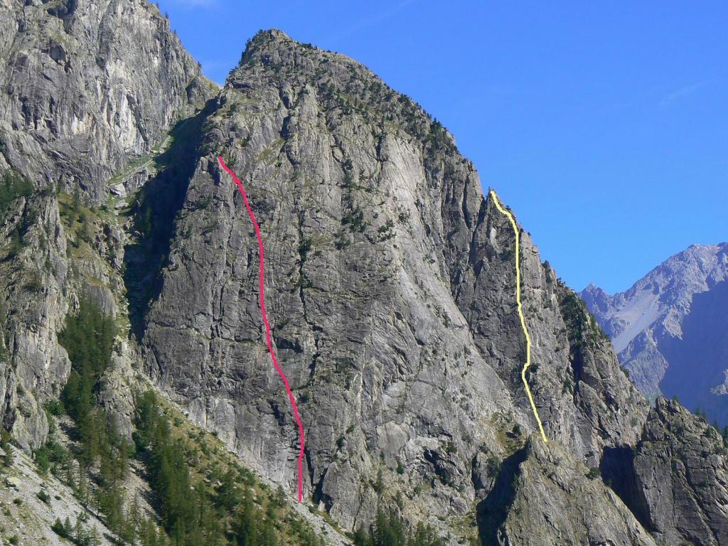 In rosso il tracciato della via, in gialle ''Les predateur''