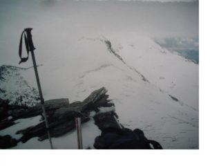 Petit e Gran Sassiere nella nebbia dalla Pointe Platte de Chamois