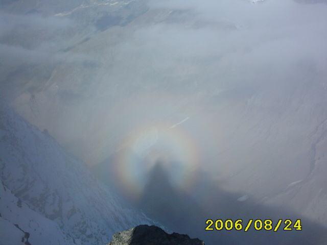 ombra nella nebbia sul m.gelé