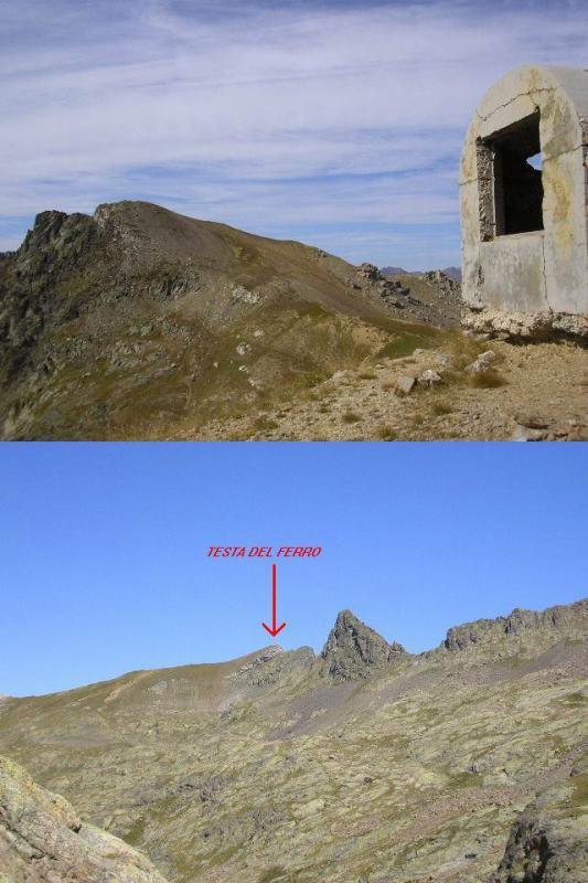 Testa del Ferro 1 versante italiano (salita) 2 versante francese (discesa)