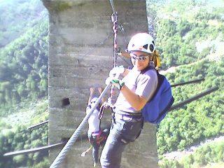 ferrata oropa pilone ex funivia ponte tibetano