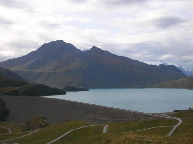 Il Petit Mont Cenise dalla diga del Moncenisio