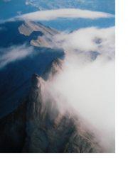 Creste e nebbie a nord delle Aig.d'Arves