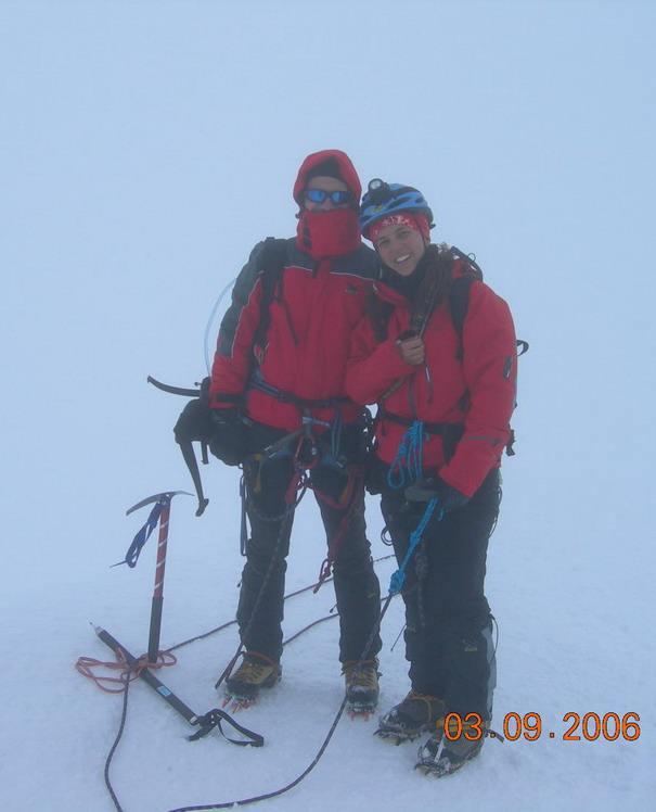 Pally ed io in vetta. Photo by un alpinista crucco.