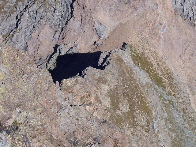 il tratto iniziale della Cresta dell'Ometto dalla cima dell'Uja di Mondrone (foto Barosso)