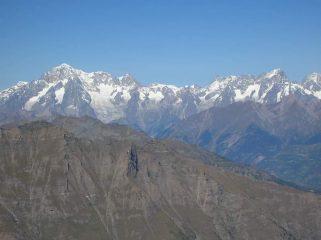 il Monte Bianco dalla Bioula