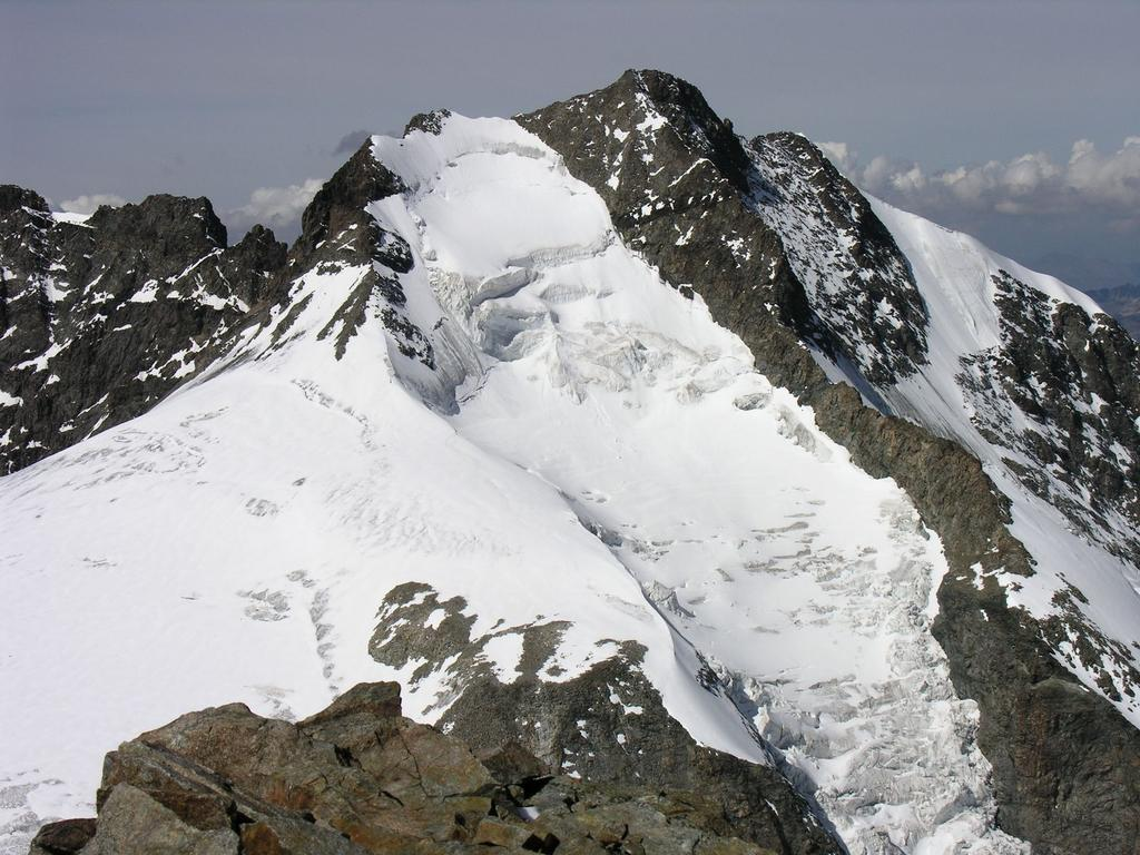 panorami dalla cima : Pizzo Bernina m. 4049 (10-9-2006)