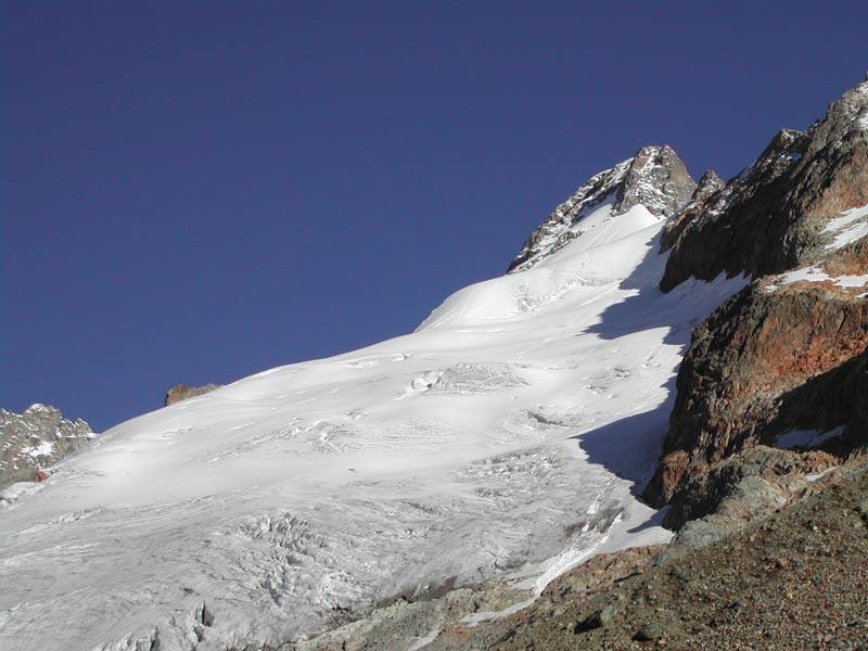 Mont Dolent visto dal bivacco