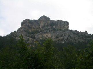 una delle falesie della valle del Foro