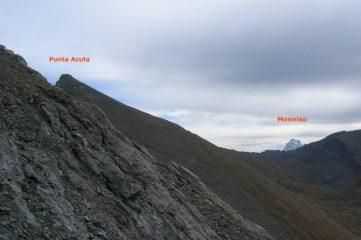 dal colle di Rodoretto vista di Punta Acuta e del Monviso