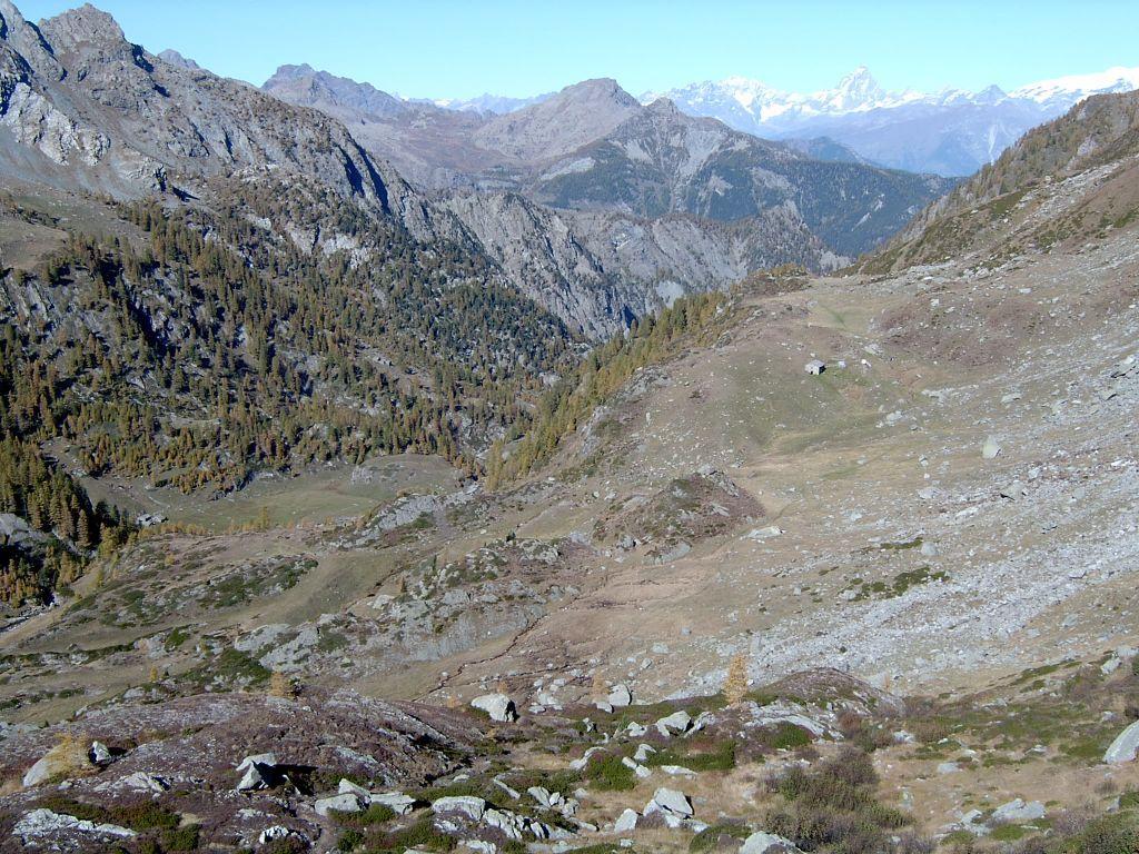 Panorama sull'alta Valle della Legna