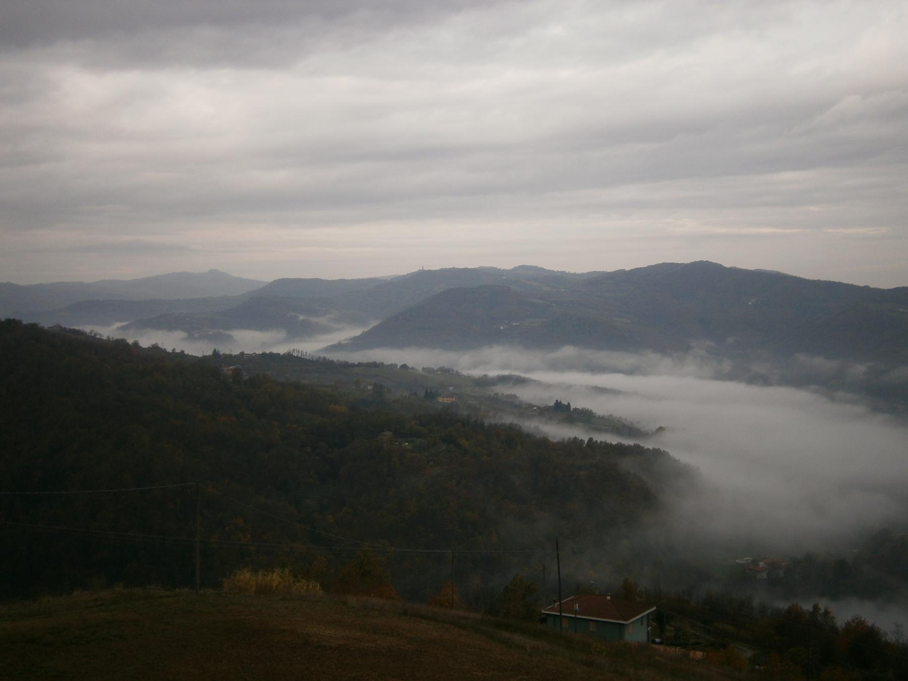 fiume di nuvole