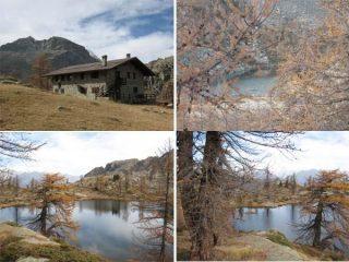 Colori d'autunno e laghi nei pressi del Barbustel