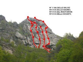 la parete dello Skurz