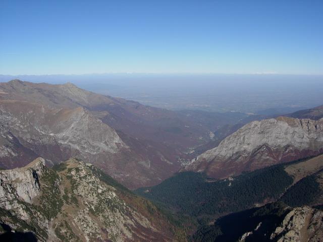 panorama sul vallone marguareis dal castello delle aquile