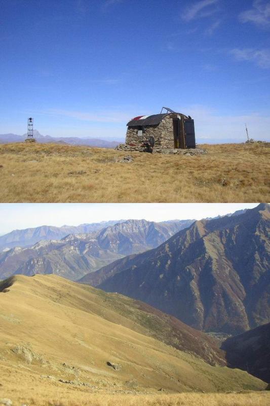 1 nuovo bivacco in vetta 2 panorama in direzione del Merqua e di Sant'Anna