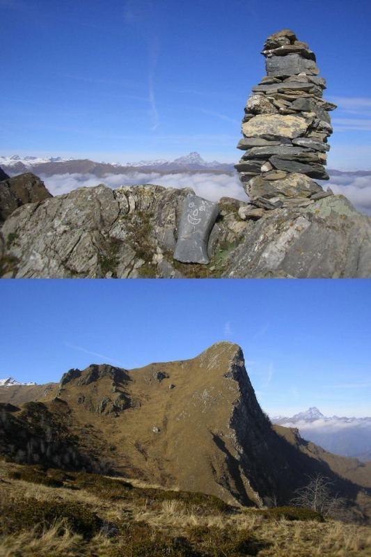 1 dalla Rocca verso Viso 2 Rocca Radevil dal colle dell'Ortiga