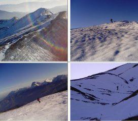 in alto a sx le cime della Laghetta;in basso a sx Corvo,Intermesoli ecc. sullo sfondo