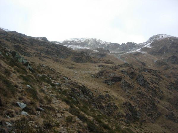 La Montagna Ronda ripresa dai pendii soprastanti l'alpe Fornale si sopra