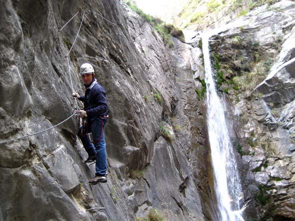 Stefano prima dell'ultima cascata