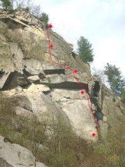 La parete delle cave della Balma
