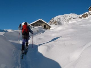 appena partiti all'alpe La Cort