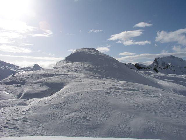 La Punta d'Orogna vista dal Monte Cazzola.