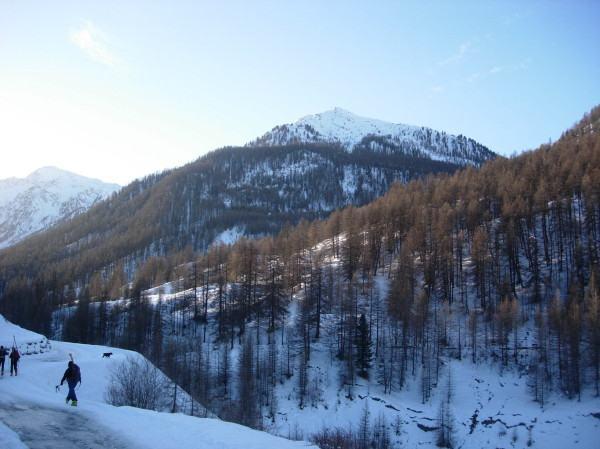 Il monte Giassez fotografato alla partenza.